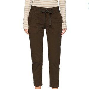 Vince Dark Laurel Green Stretch Utility Pants 4